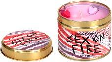 Sex on Fire Tin Candle - Ароматна свещ в метална кутия с масло от мандарина и иланг-иланг -