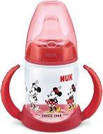 Неразливаща се чаша със силиконов накрайник и дръжки - Мини Маус 150 ml - За бебета над 6 месеца -