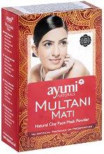 Мултани Мати на прах - Натурална маска за лице за мазна кожа - гел