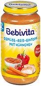 Bebivita - Пюре от зеленчукова яхния с ориз и пилешко месо - Бурканче от 250 g за бебета над 12 месеца - пюре