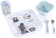 Детски комплект за хранене - Lovely Bear - За бебета над 12 месеца -