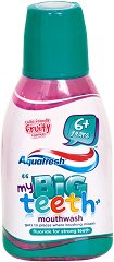 Aquafresh My Big Teeth Mouthwash - Детска вода за уста с флуорид и плодов вкус - крем