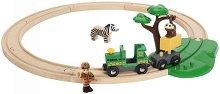 Сафари влакче с релси - Детски дървени играчки - играчка