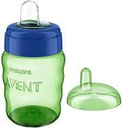 Зелена преходна чаша с мек накрайник - 260 ml - За бебета над 12 месеца - продукт