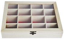 Дървена кутия с 16 разделения - Предмет за декориране