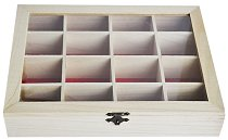 Дървена кутия с 16 разделения