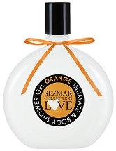 """Интимен душ гел с аромат на портокал - От серията """"Sezmar Collection Love"""" -"""