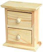 Дървено мини шкафче с 2 чекмеджета
