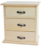Дървено шкафче с 3 чекмеджета - Предмет за декориране