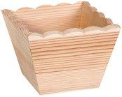 Дървена кашпа - Предмет за декориране