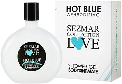"Афродизиак душ гел за тяло и интимна зона - Hot Blue - От серията ""Sezmar Collection Love"" -"
