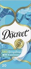 Discreet Deo Spring Breeze - Ежедневни дамски превръзки в опаковки от 20 ÷ 100 броя - крем