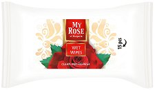 Мокри кърпички с аромат на роза - Опаковка от 15 броя - паста за зъби
