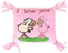 Плюшена възглавничка с овце - I love you -