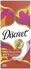 Discreet Deo Summer Fresh - Ежедневни дамски превръзки в опаковки от 20 ÷ 100 броя - продукт