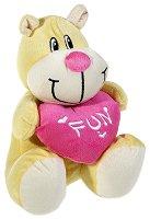 Мече със сърце - Fun - Плюшена играчка -