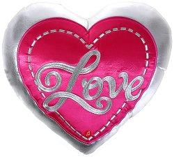 Възглавница с форма на сърце - Love -