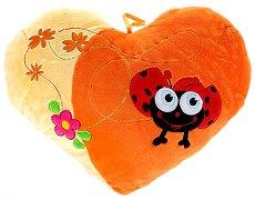 Плюшена възглавничка - Калинка и цветя - играчка
