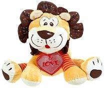 Лъвче с медаьон сърце - Love - Плюшена играчка -