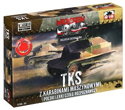 """Полски танк - TKS with Hotchkiss wz. 25 - Сглобяем модел от серията """"Септември 1939"""" - макет"""
