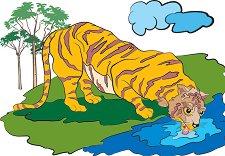Африкански животни - Тигър - пъзел