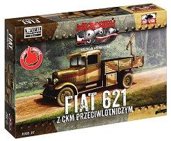 Полски военен камион с картечница - Fiat 621L - макет