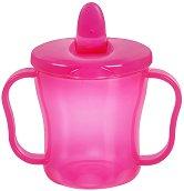 Розова чаша с прибиращ се накрайник - 180 ml - За бебета над 6 месеца -