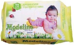 Бебешки мокри кърпички с екстракт от лайка - Опаковки от 72 броя с капак или с лепенка -