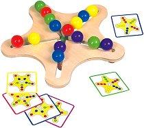 Звезда с топчета - Дървен комплект за подреждане - играчка