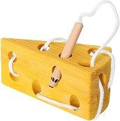 Сиренце - Дървена играчка за нанизване - играчка