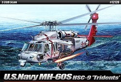 Военен хеликоптер - MH-60S HSC-9 Tridents - Сглобяем авиомодел -