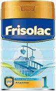 Мляко за кърмачета: Frisolac 1 - Опаковка от 400 g за бебета от 0 до 6 месеца - залъгалка