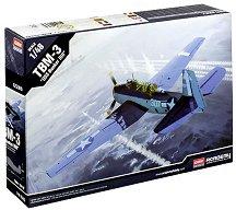 Военен самолет - TBM-3 USS Bunker Hill - Сглобяем авиомодел -