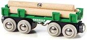 Товарен вагон с трупи - Детски дървени играчки - играчка