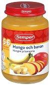 Пюре от манго с банани - Бурканче от 190 g за бебета над 5 месеца - продукт