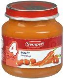 Пюре от моркови - Бурканче от 125 g за бебета над 4 месеца - продукт