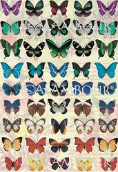 """Декупажна хартия - Пеперуди 171 - Серия """"Digital Collection Mulberry"""""""