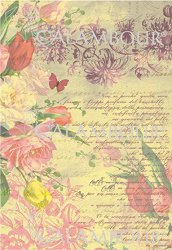 Декупажна хартия - Поезия от цветя 173