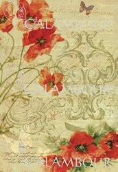 "Декупажна хартия - Хармония от макове 179 - Серия ""Digital Collection Mulberry"""