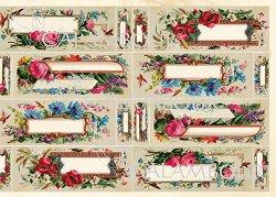 "Декупажна хартия - Етикети 18 - Серия ""Digital Collection Mulberry"""