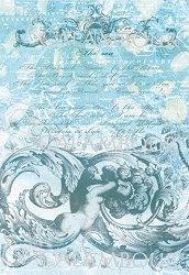 """Декупажна хартия - Безкрайно море 183 - Серия """"Digital Collection Mulberry"""""""