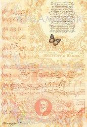 """Декупажна хартия - Музикално пътешествие 186 - Серия """"Digital Collection Mulberry"""""""