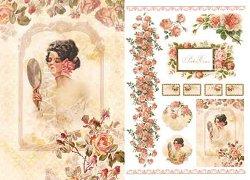 """Декупажна хартия - Рози 212 - Серия """"Digital Collection Mulberry"""""""