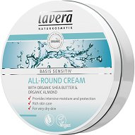 """Lavera Basis Sensitiv All-Round Cream - Универсален крем с био масла от бадем и ший от серията """"Basis Sensitiv"""" - крем"""