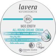 "Lavera Basis Sensitiv All-Round Cream - Универсален крем с био масла от бадем и ший от серията ""Basis Sensitiv"" - балсам"