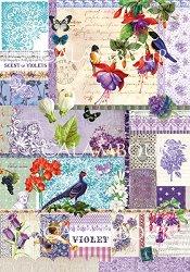 Декупажна хартия - Scents of Violets 224