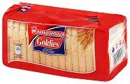 Бебешки пшенични сухари - Goldies - Опаковки от 125 g, 255 g и 510 g за бебета над 6 месеца - продукт