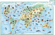 Животните по света - Образователен пъзел с книжка -