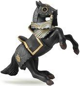 """Конят на рицаря с черната броня - Фигура от серията """"Рицари"""" -"""