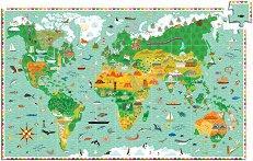 Околосветско пътешествие - Образователен пъзел с книжка - пъзел